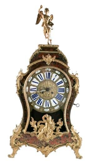 A cartel clock in Louis XV-style, Boulle marquetry and