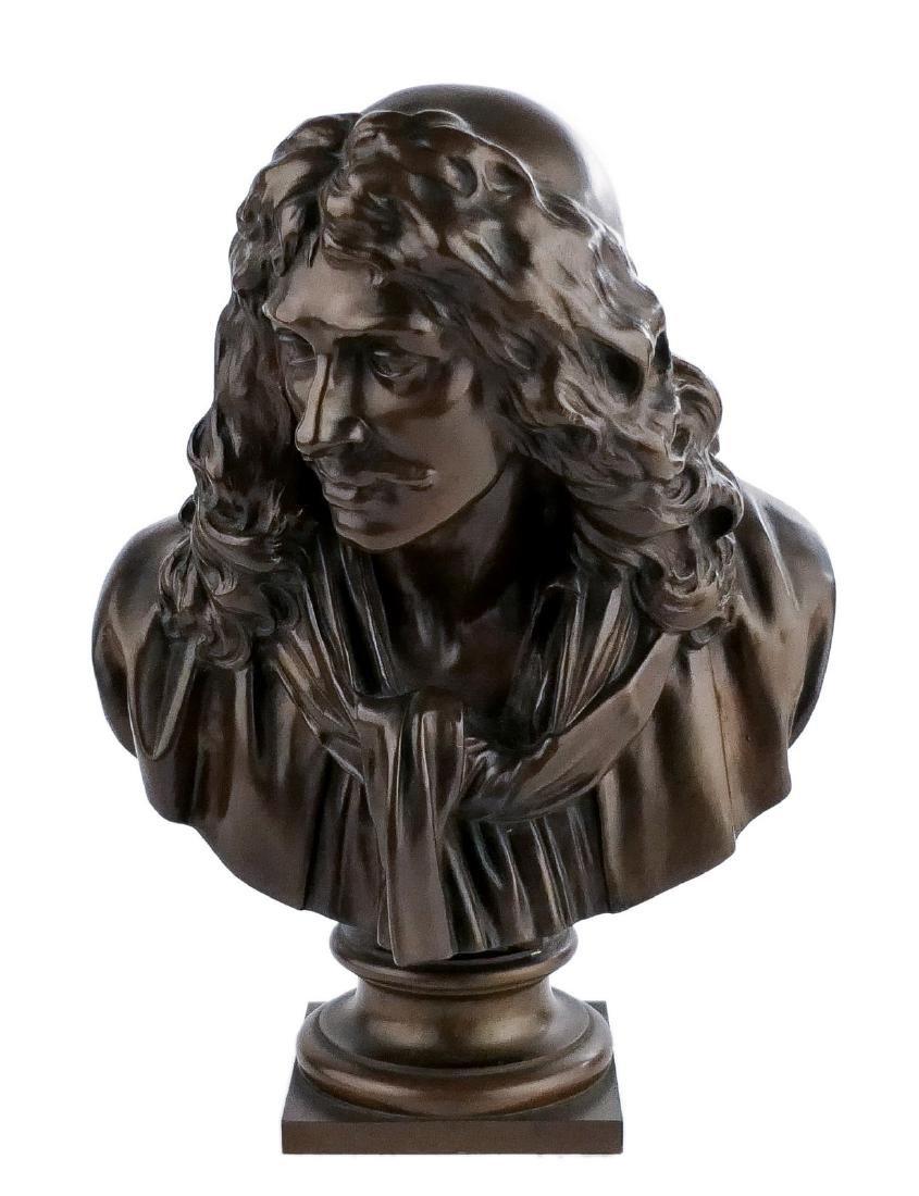 Unsigned, Molire, bronze, F. BarbŽdienne Fondeur -