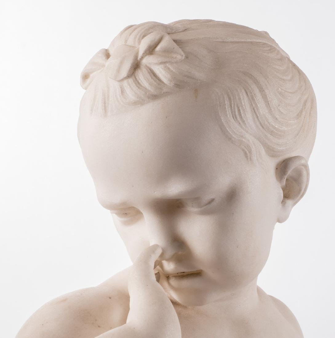 Unsigned, a little girl weeping over an empty bird's - 5