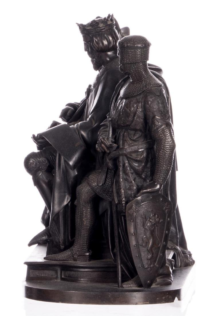 Unsigned, historicizing scene, bronze, late 19thC, H 31 - 2