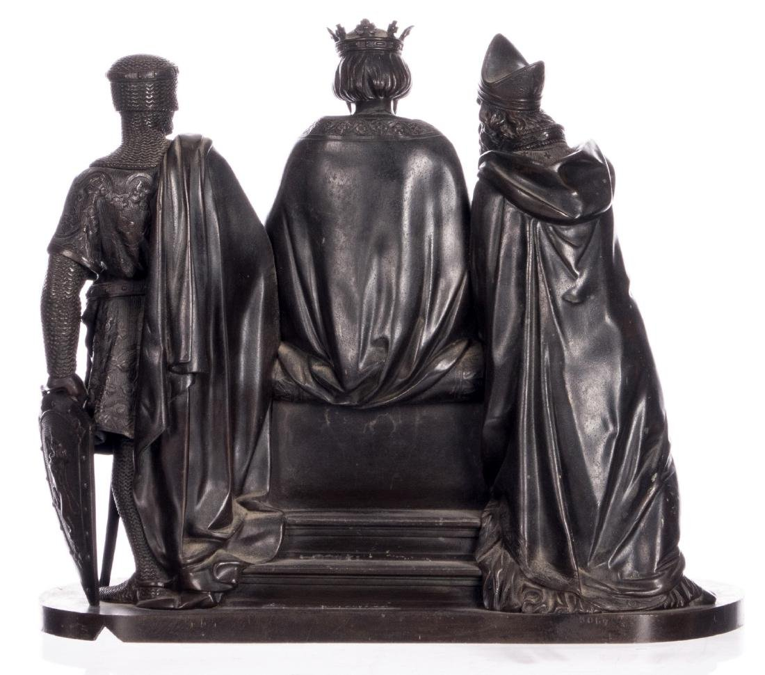 Unsigned, historicizing scene, bronze, late 19thC, H 31 - 3