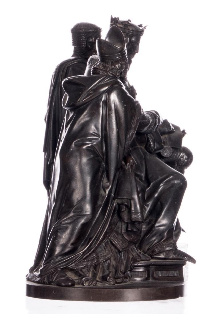 Unsigned, historicizing scene, bronze, late 19thC, H 31 - 4