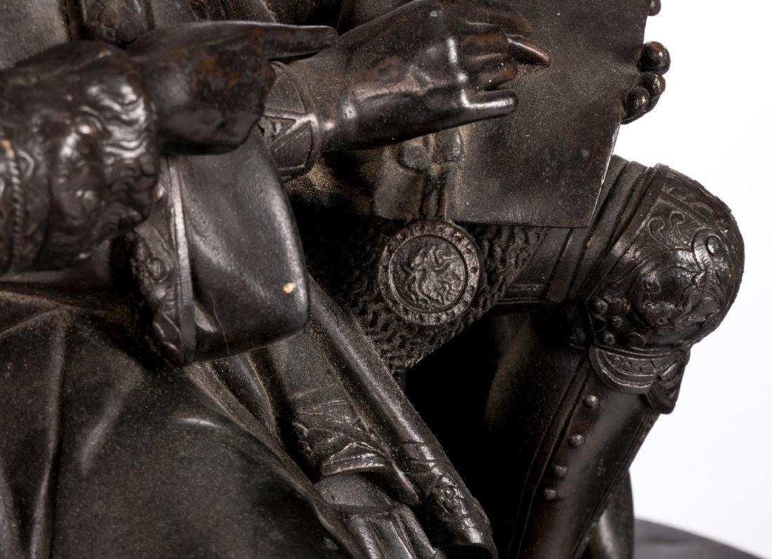 Unsigned, historicizing scene, bronze, late 19thC, H 31 - 7