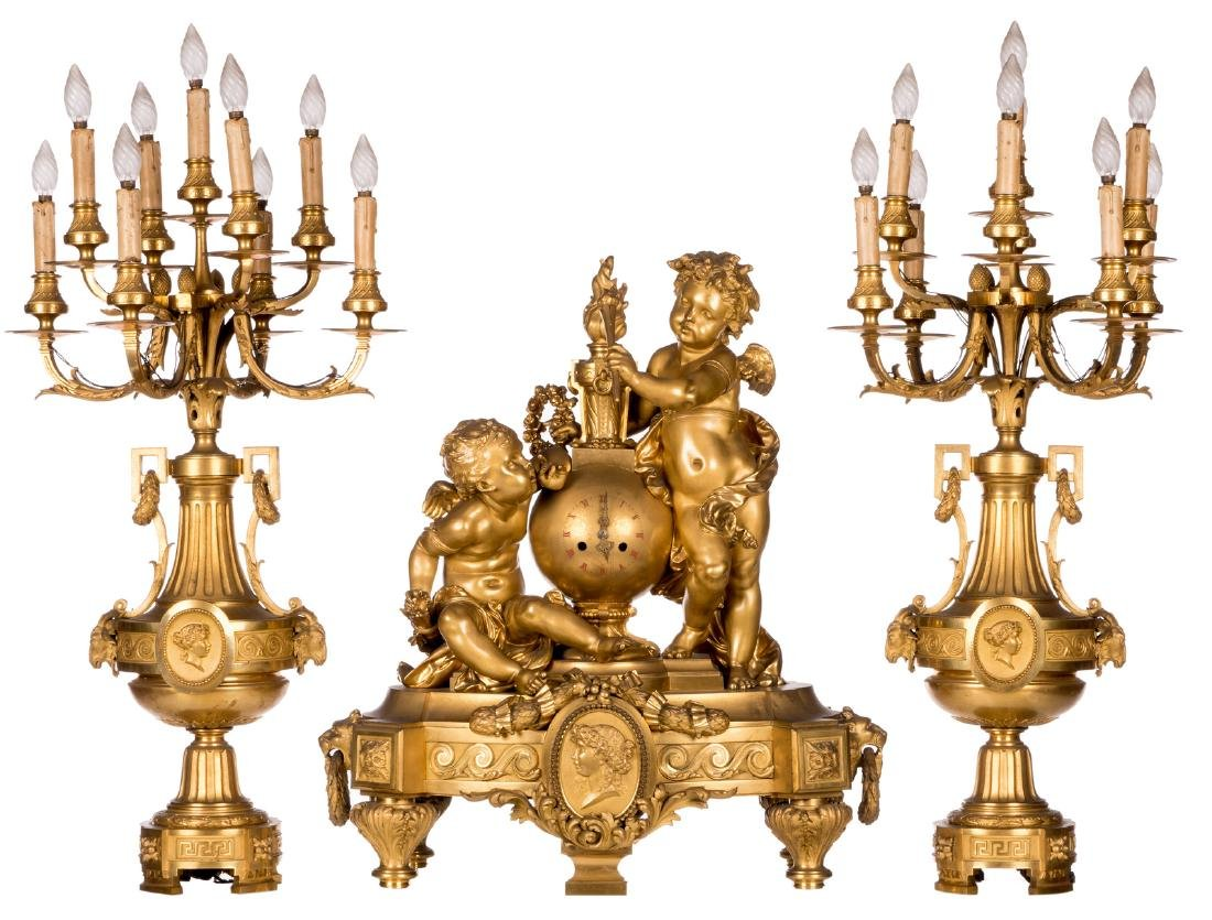An impressive French Neoclassical gilt bronze
