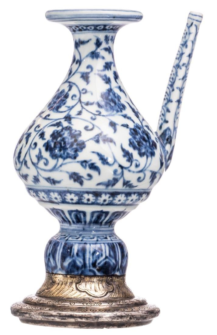 A rare Chinese blue and white holy water ritual vessel