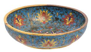 A Chinese cloisonne enamel floral and dragon decorated