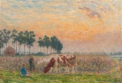 Claus E., 'Declin du jour', oil on canvas, 70 x 90 cm