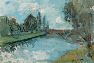 Wolvens HV a view on Bruges oil on paper on