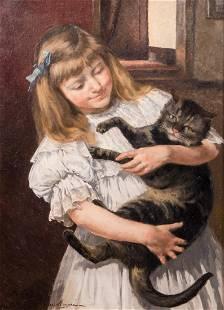 Mayne J Les deux amis oil on canvas 545 x 755