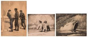 Peiser K Gamins de pecheurs etching 23150 dated
