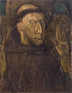 Colbrandt O a portrait of a saint oil on panel