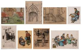 A fine lot of graphic art by Bruges artists consisting