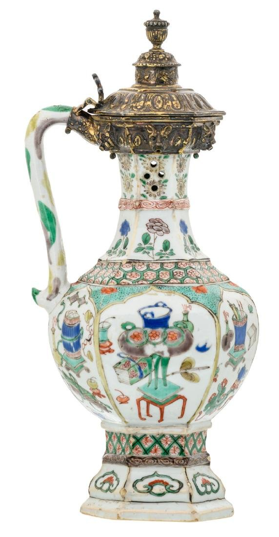 A Chinese export porcelain famille verte decorated