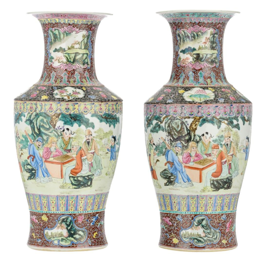 Two Chinese famille rose and polychrome floral