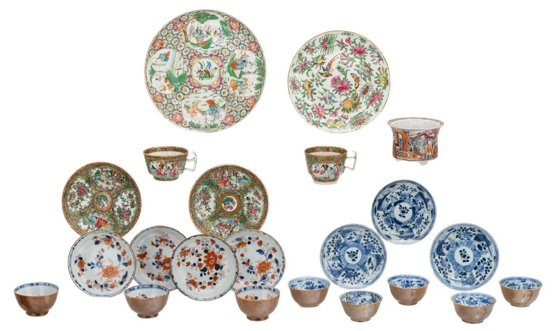 A various of Chinese export porcelain, including a