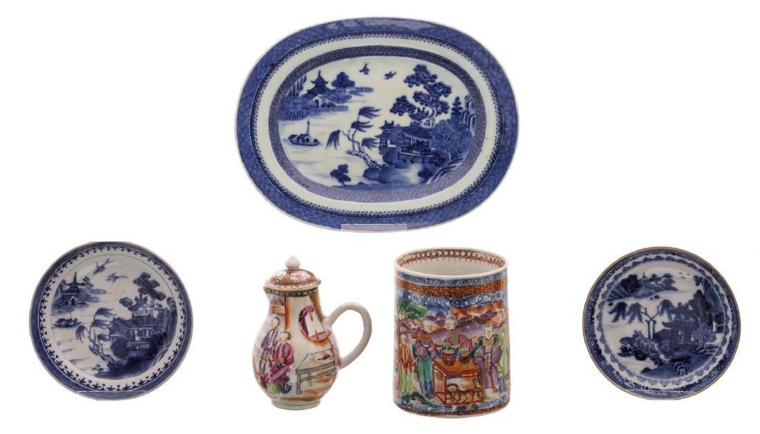 A Chinese mandarin famille rose export porcelain