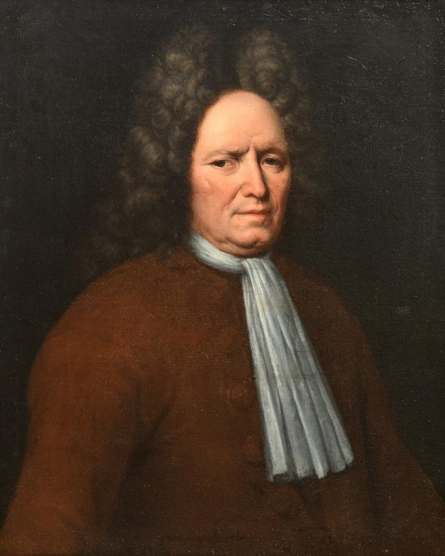 Unsigned, a portrait of a man, oil on canvas, 18thC,