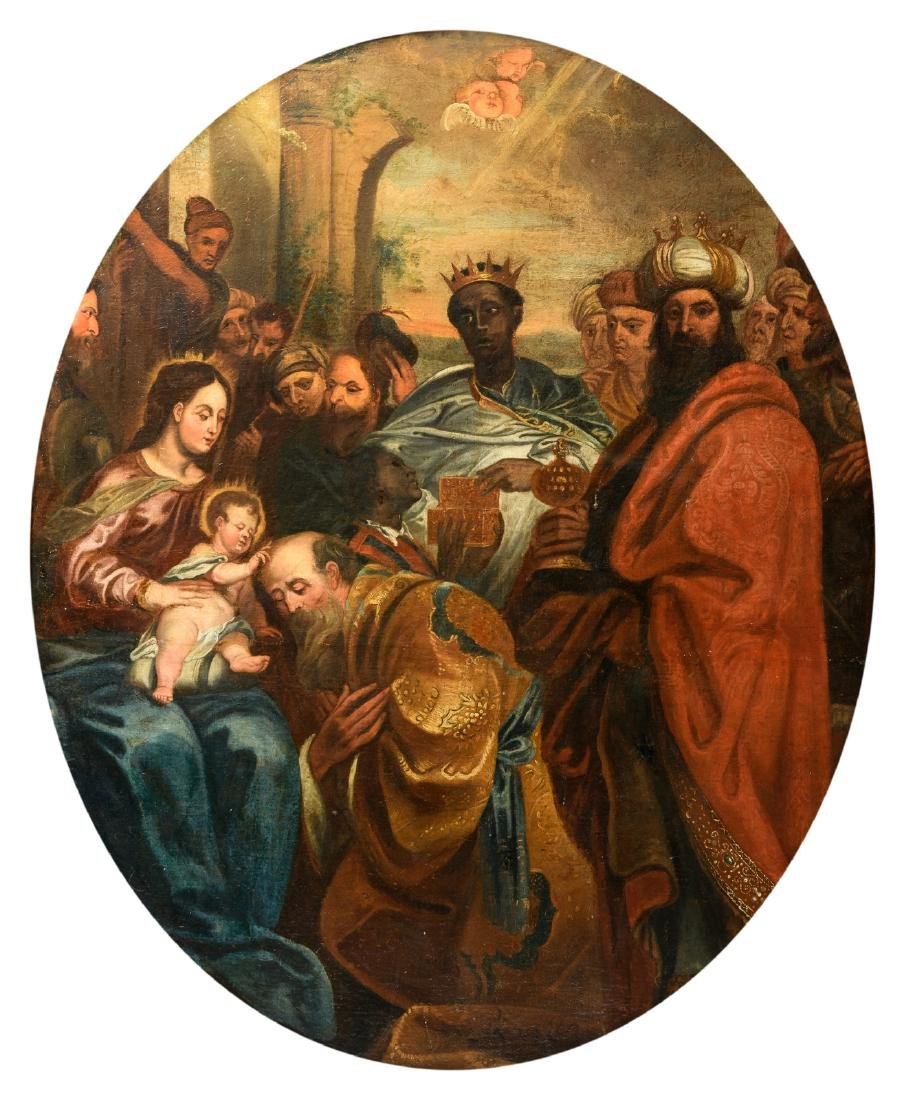 Unsigned, the Adoration of the Magi, oil on canvas,