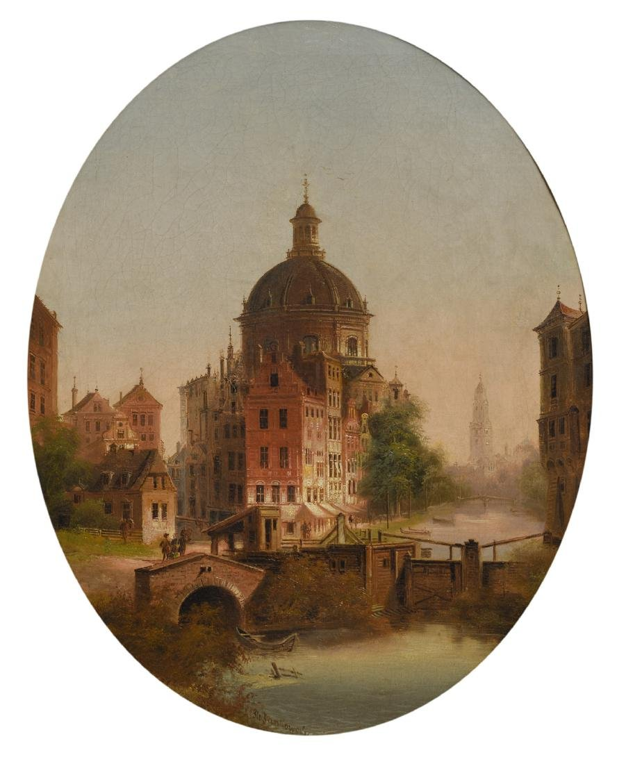 Jankowski J.W., a view on the Koepelkerk in Amsterdam,