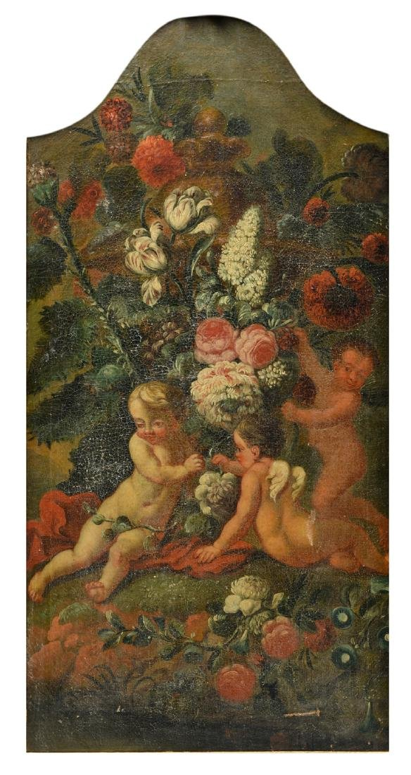 Unsigned, a decorative panel of a wall panelling, oil