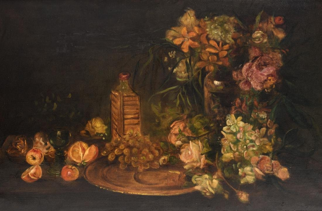 Ragot J., a still life with flowers, oil on canvas, 70