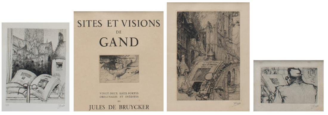 De Bruycker J., four etchings including two title pages