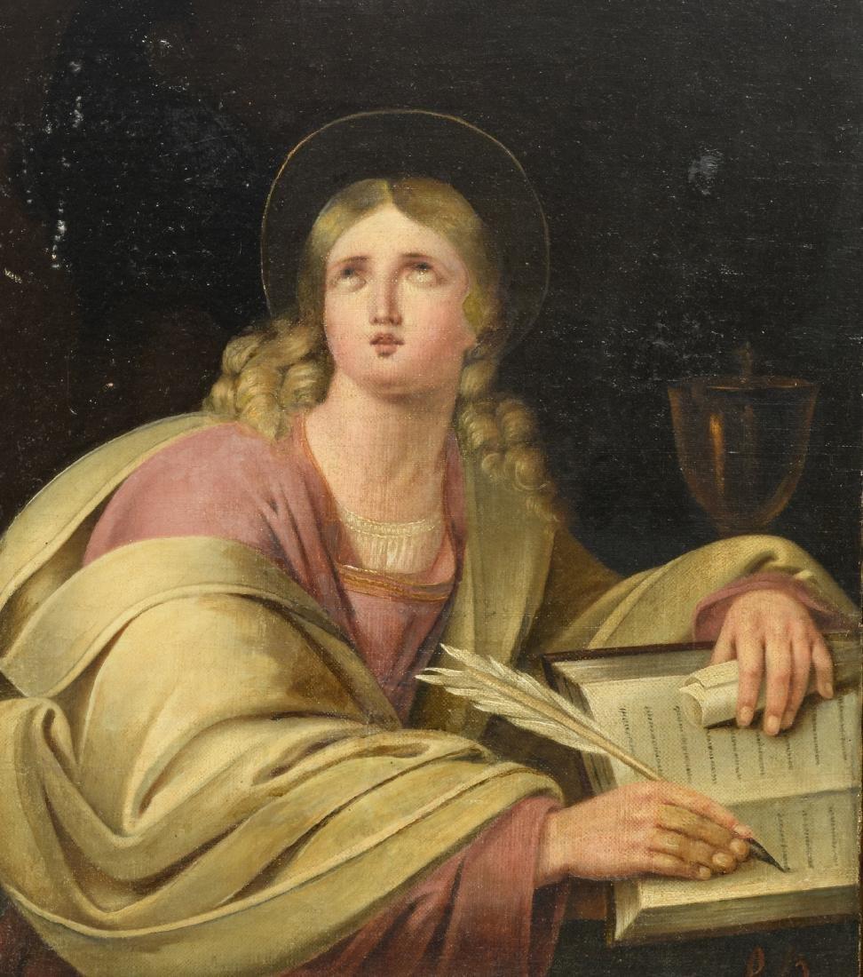Monogrammed P.B. (Bock P.?), John the Evangelist, oil
