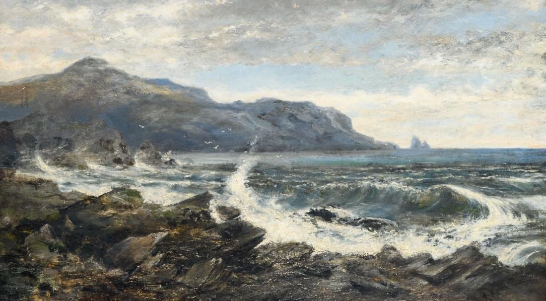Montgomery R., a seascape, oil on canvas, 50,5 x 88,5