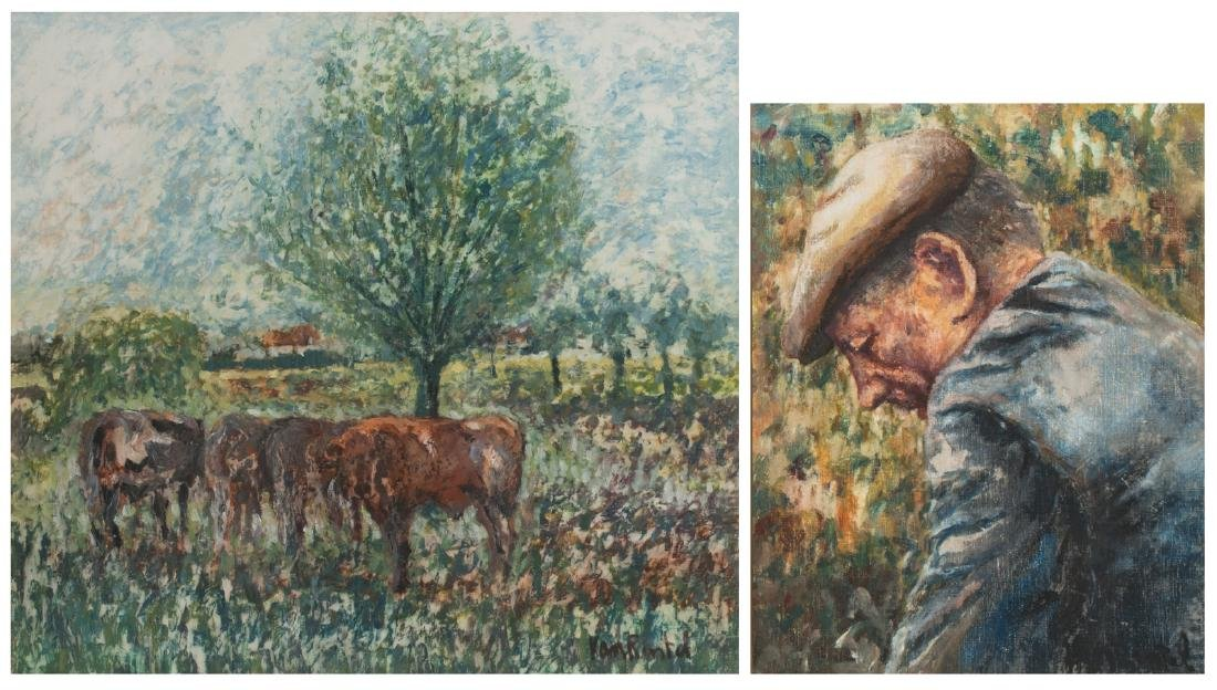 Van Rintel T., cows in a landscape, oil on canvas;