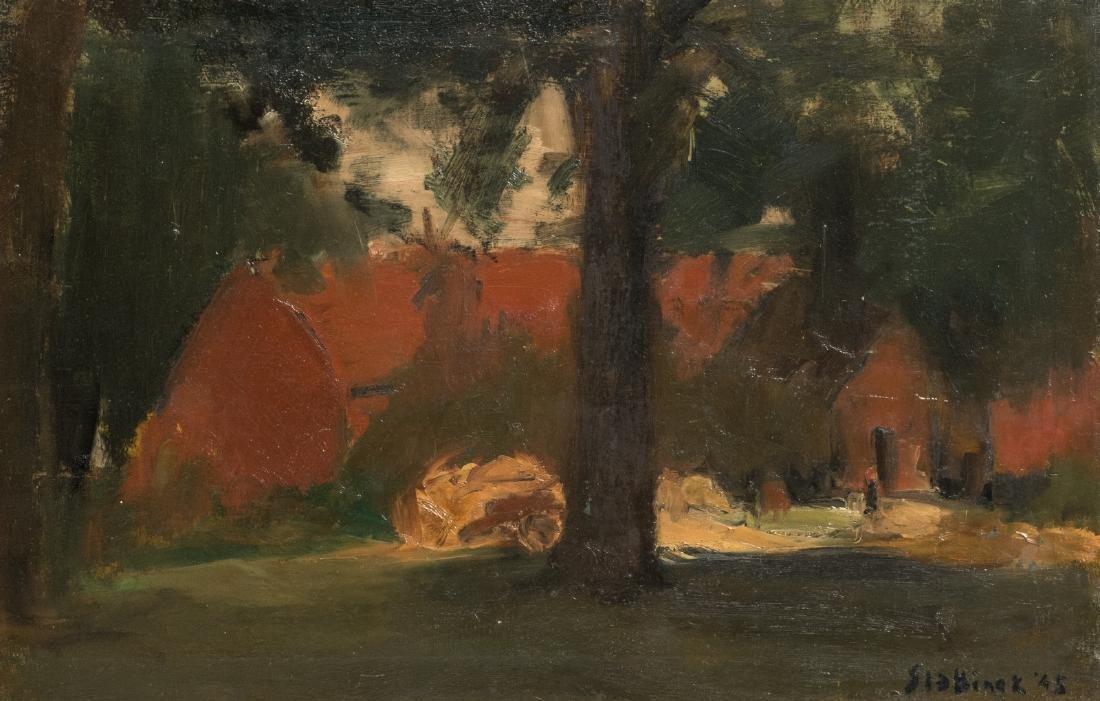 Slabbinck R., a rural view, oil on canvas, dated 1945,