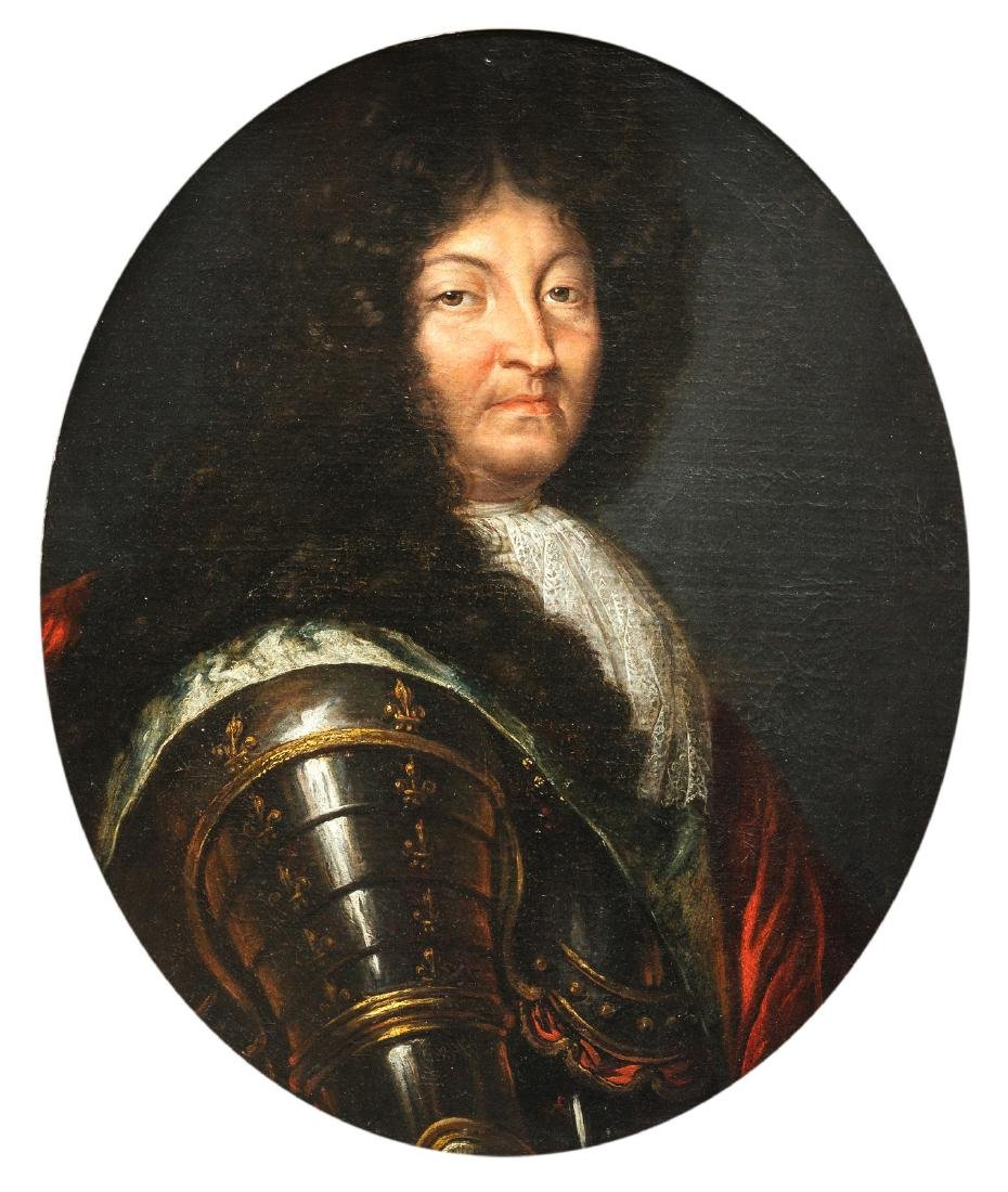 (Rig. H. / Rigaud H.), a portrait of Louis XIV, oil on