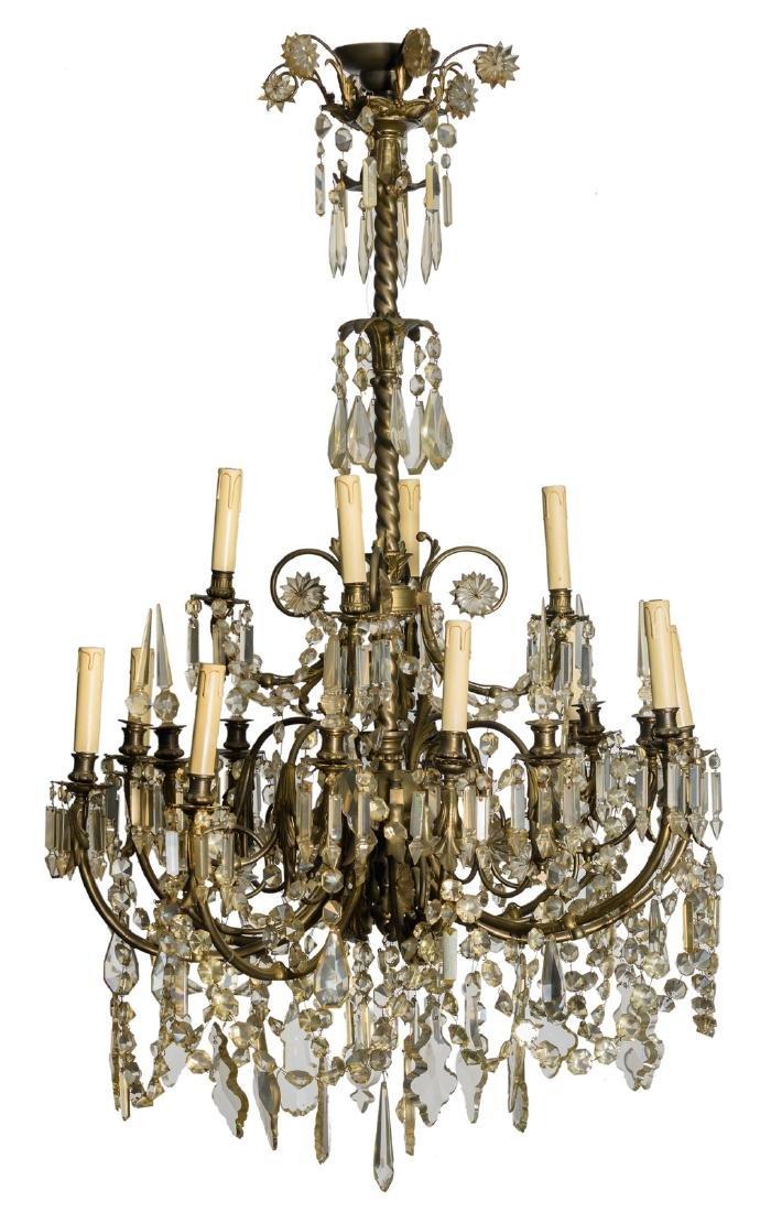 An important chandelier, H 140 cm