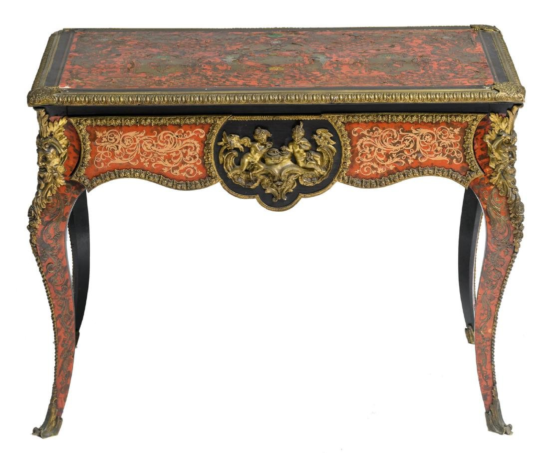 A Boulle occasional table, the top and most bronze