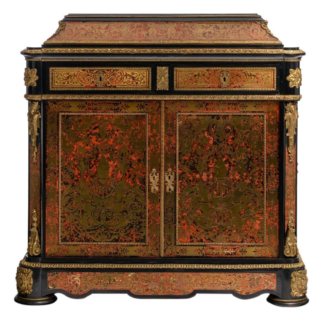 A Historism gilt bronze mounted Boulle cabinet, H 120 -