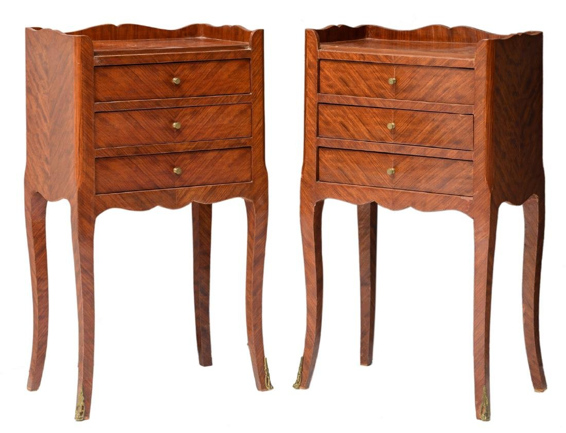 A pair of early Neoclassical rosewood chiffoniers, H