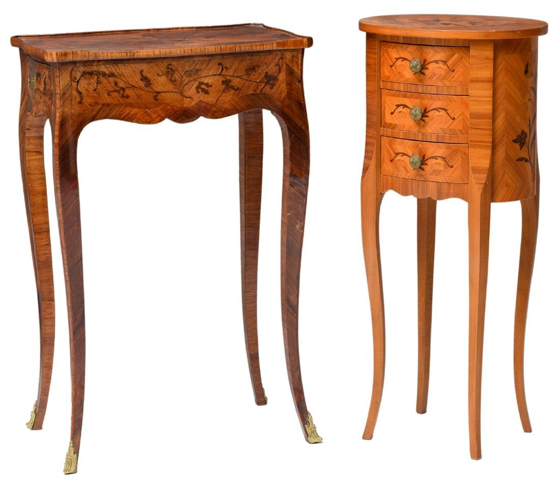 Two early Neoclassical rosewood side tables with