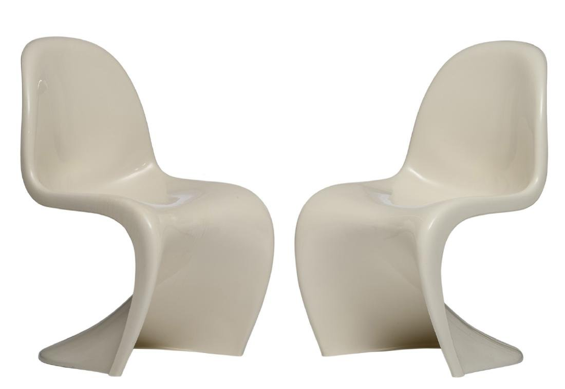 Two so-called Panton Chairs, design Verner Panton for