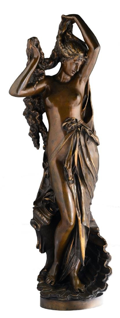 Carrier-Belleuse A., the birth of Venus, patinated