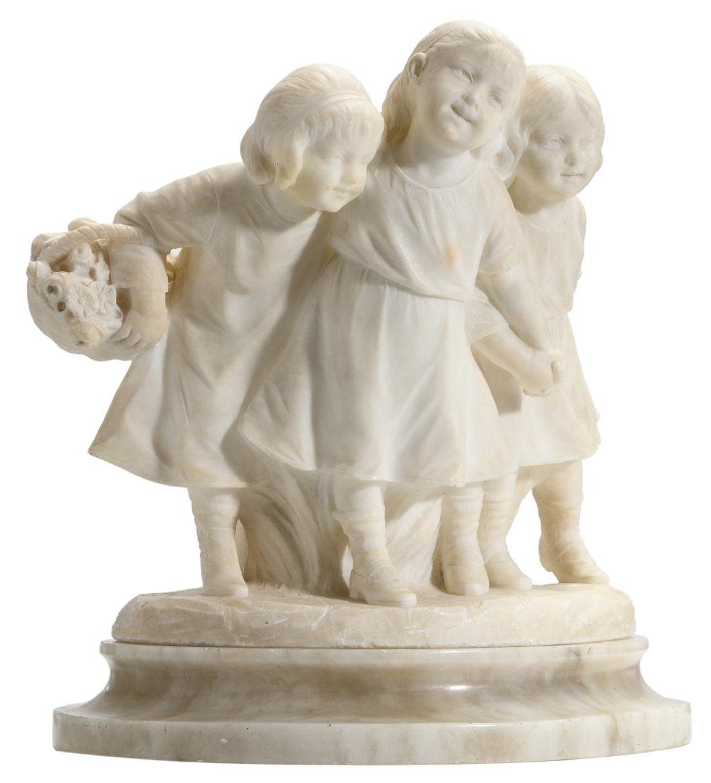 Calendi, a jolly company, Carrara marble on an