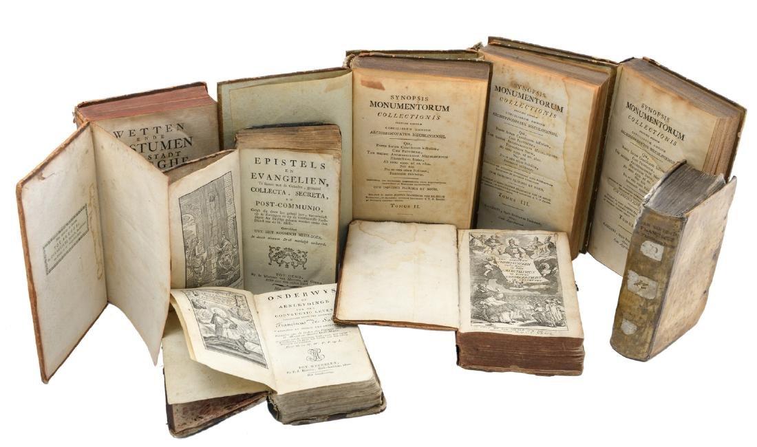 Eight 17th - 19thC religious books