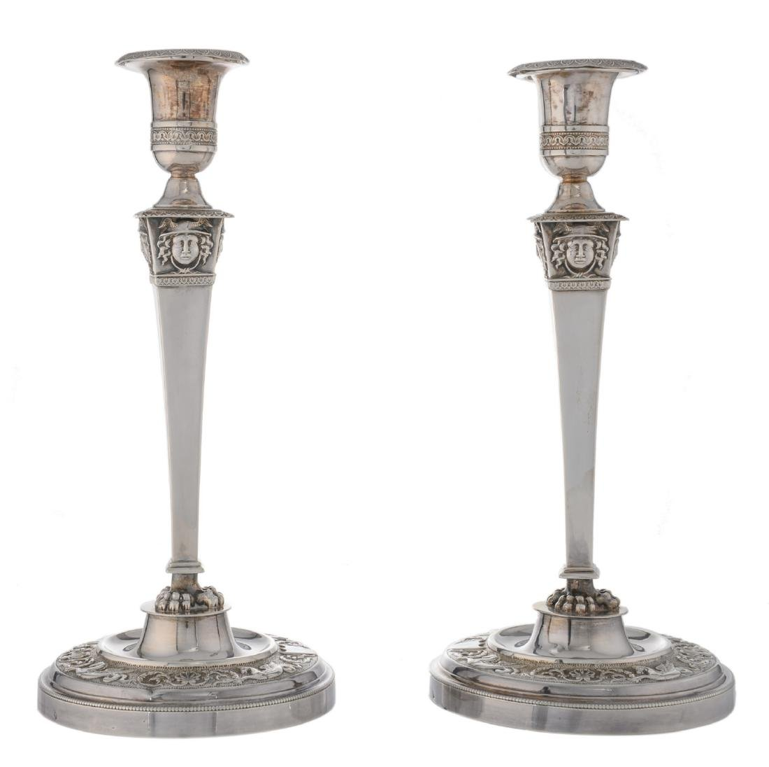 A pair of second half of the 19thC French export silver