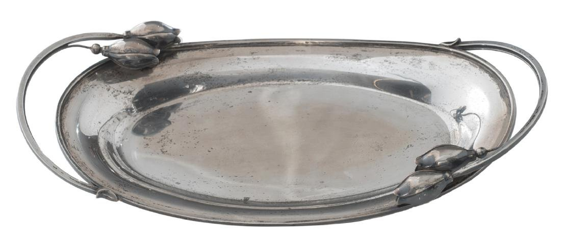 A sterling silver dish in the Liberty manner, design