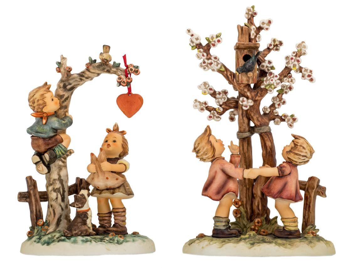 Two Goebel and Hummel figurines, including one special
