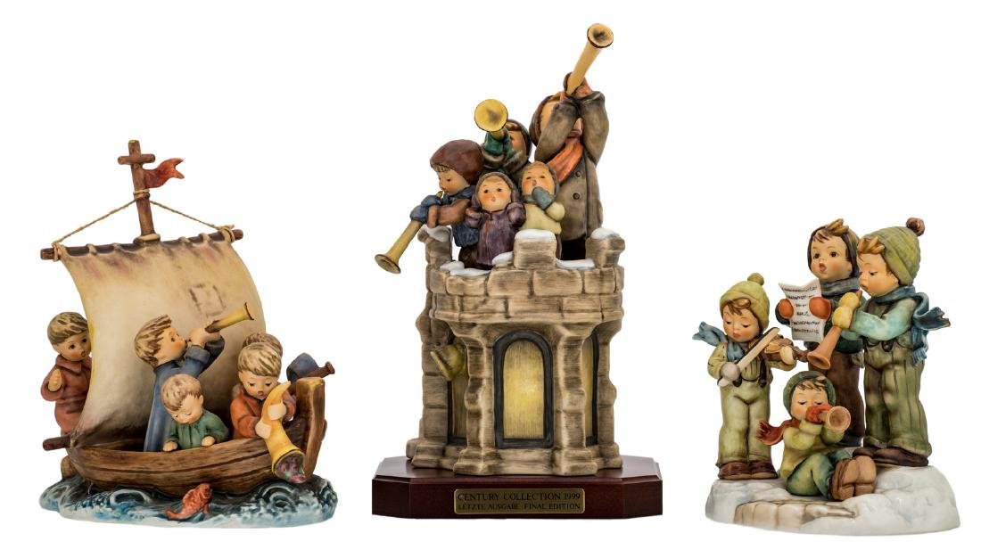 Three Goebel and Hummel special edition figurines