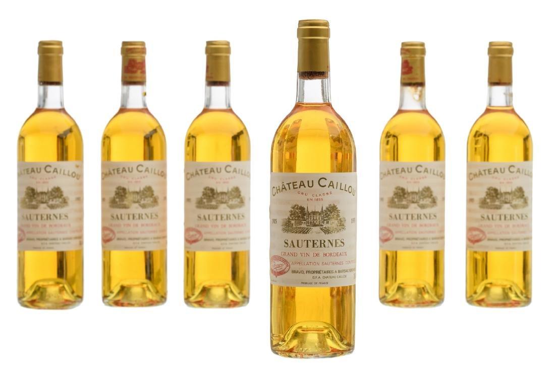 Six bottles Sauternes 'Chateau Caillou', 1985