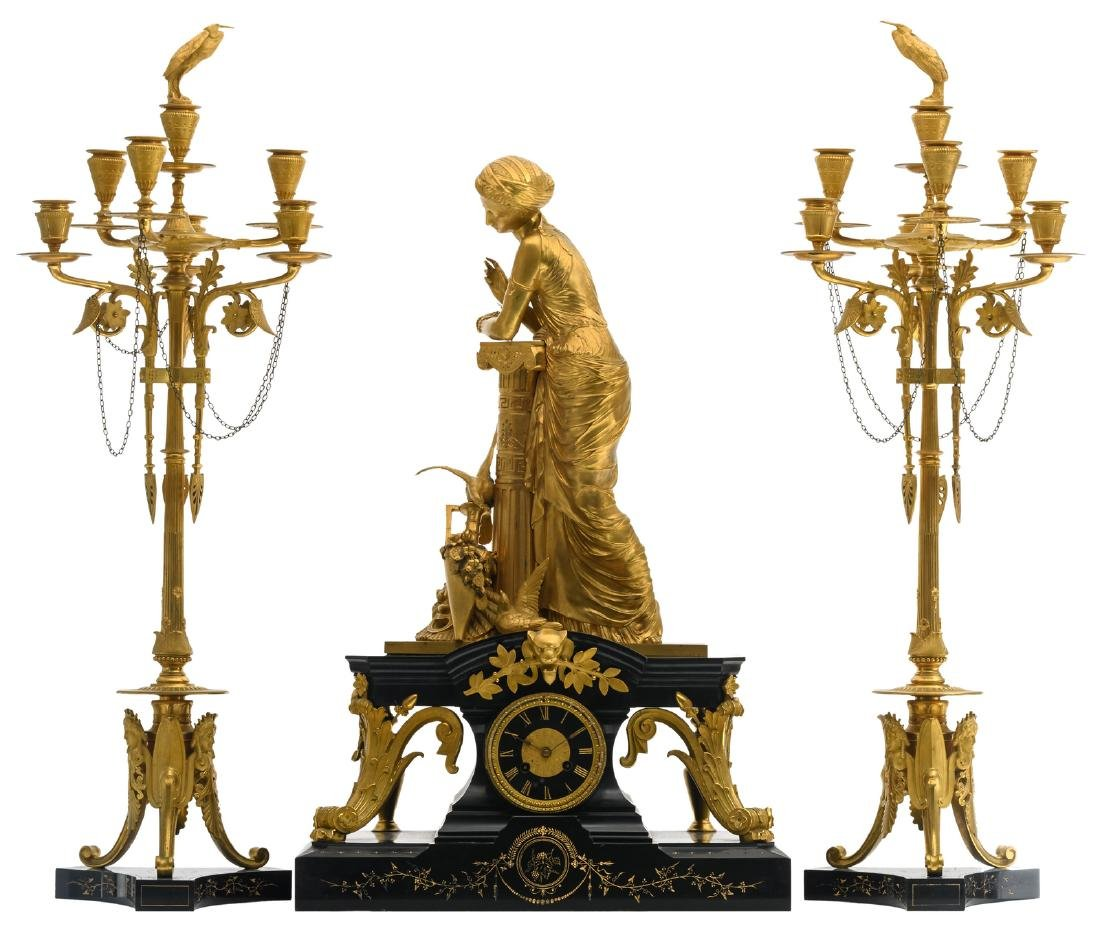 An exceptional French gilt bronze Neoclassical