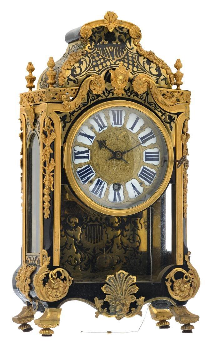 An 18thC French Boulle cartel clock, gilt bronze mounts