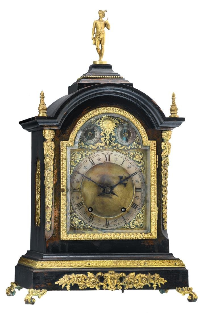 A Neoclassical English gilt bronze and brass mounted