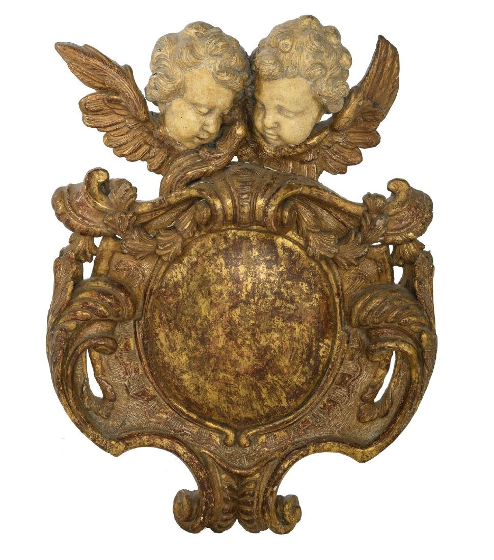 A first half of the 18thC cartouche crowned with two