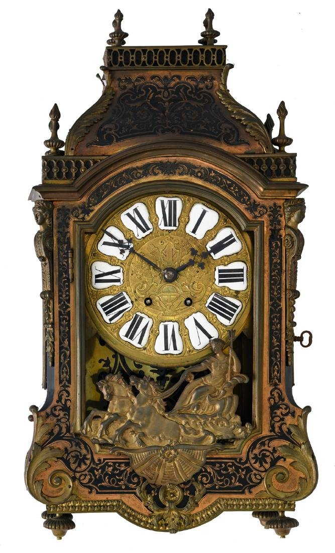A LXIV style bronze mounted Boulle cartel klok, H 62 -